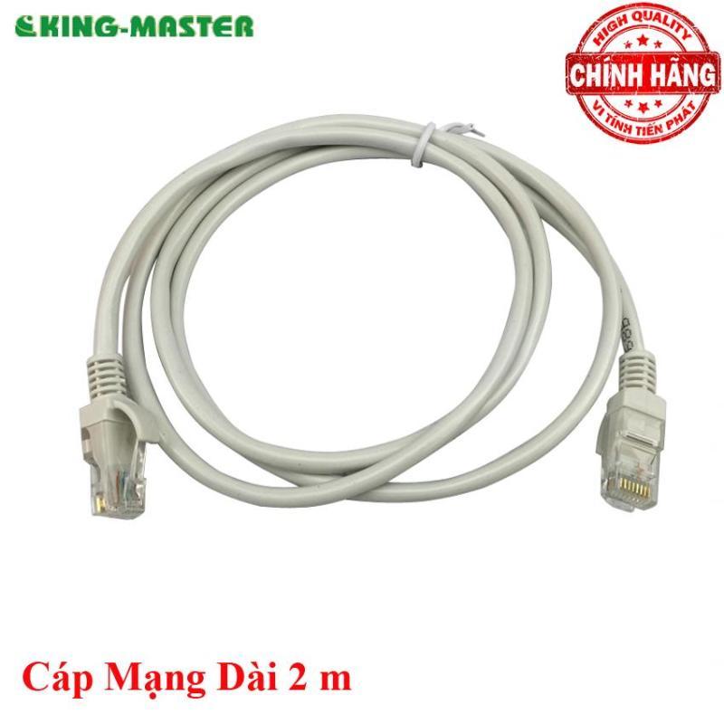 Bảng giá Dây cáp mạng LAN Internet bấm sẵn KingMaster dài 2m chuẩn cat 5e Phong Vũ