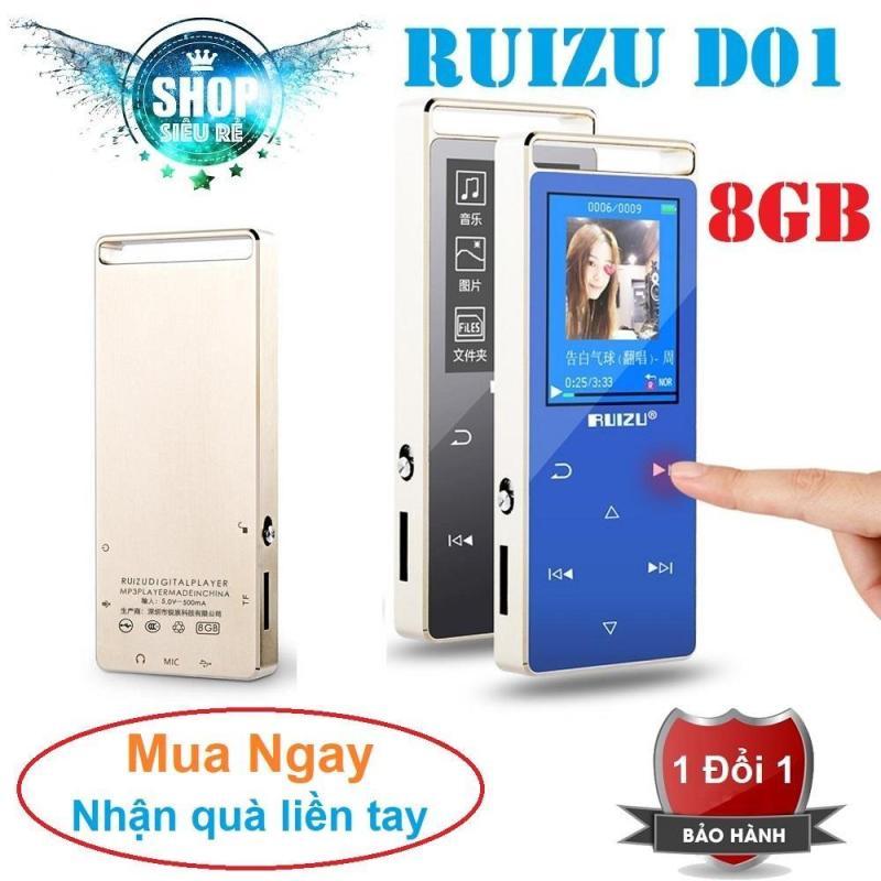 Máy nghe nhạc MP3 RUIZU D01 Bộ nhớ trong 8GB hỗ trợ thẻ nhớ tối đa 128GB