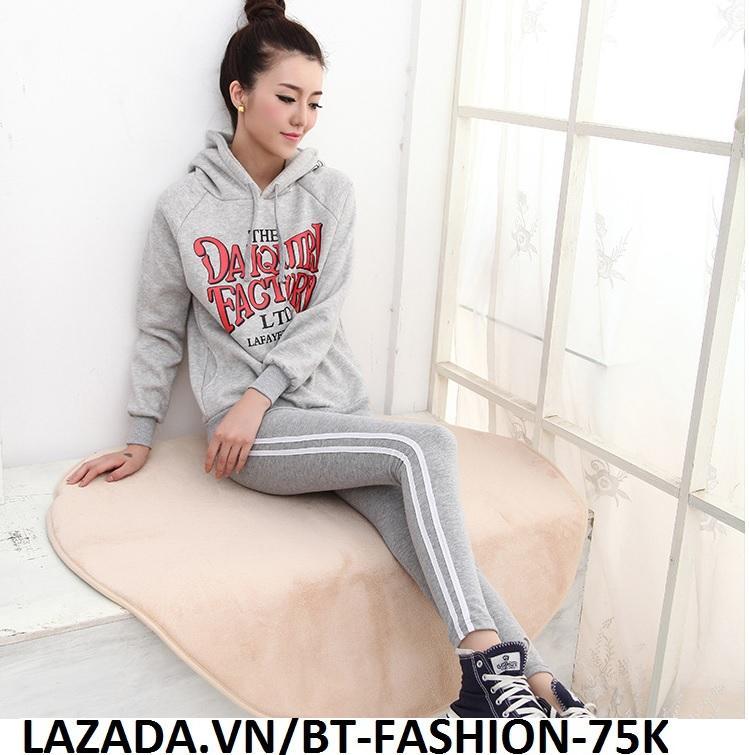 Quần Dài Nữ Thun Ôm Legging Thể Thao Thời Trang Hàn Quốc - BT Fashion (QTT03A-2 SỌC)
