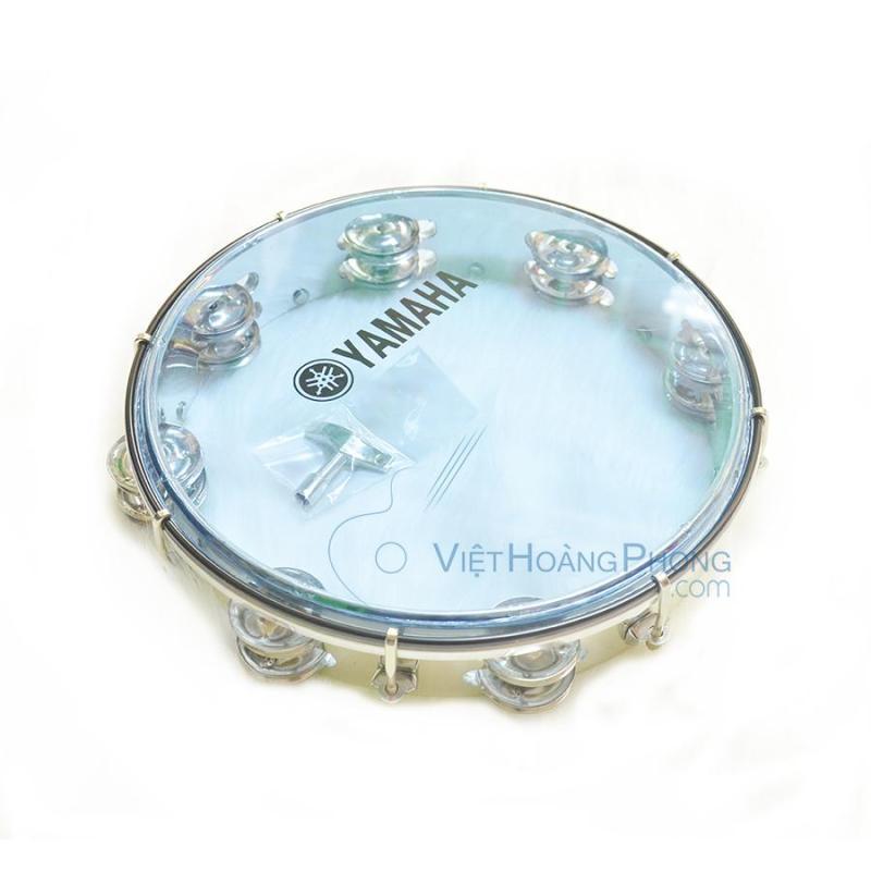 Trống lắc tay - trống gõ bo - Tambourine Yamaha MT6-102B (Xanh Trong) - Việt Hoàng Phong