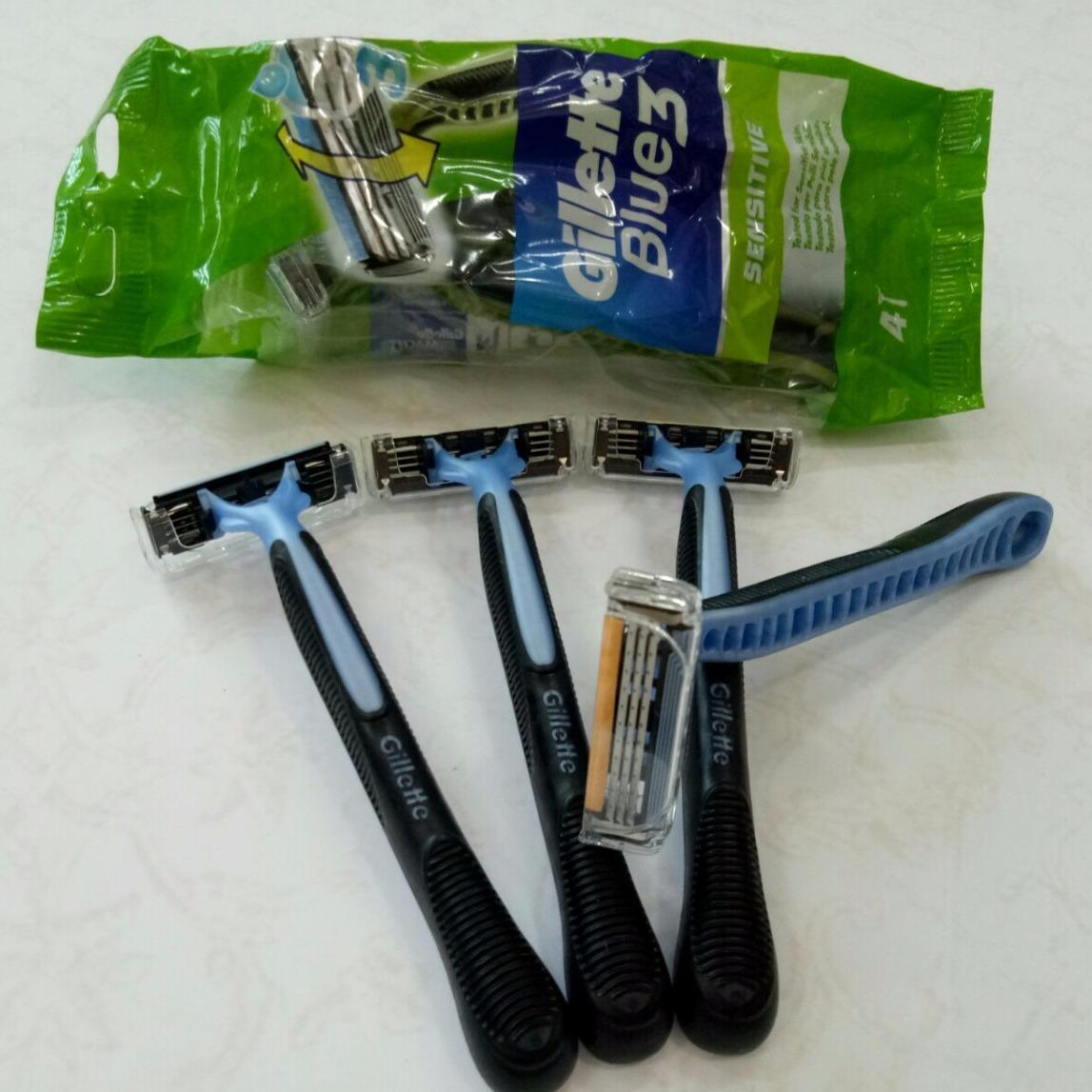 Combo 4 dao cạo râu Gillette Blue 3 - xách tay Pháp giá rẻ