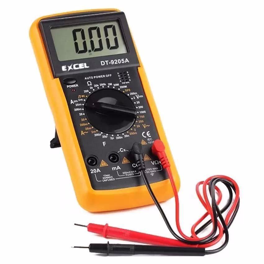 Đồng hồ đo điện - điện tử dành cho kỹ thuật EXCEL DT9205A (Đen phối vàng