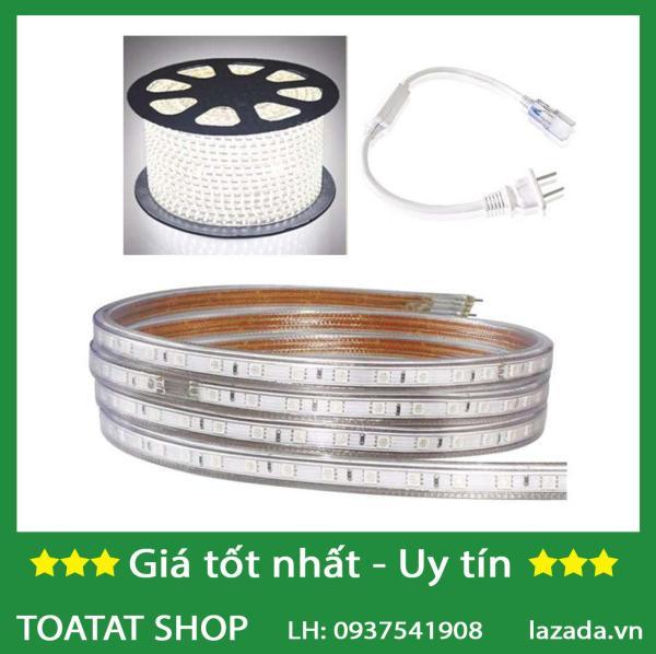 Bảng giá Bộ 50 mét đèn Led dây 5050/220V + Tặng 1 đầu nối dây nguồn