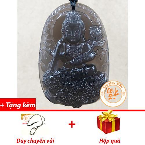 Mặt Dây Chuyền Phật Bản Mệnh Phổ Hiền Bồ Tát Tuổi Thìn Obsidian