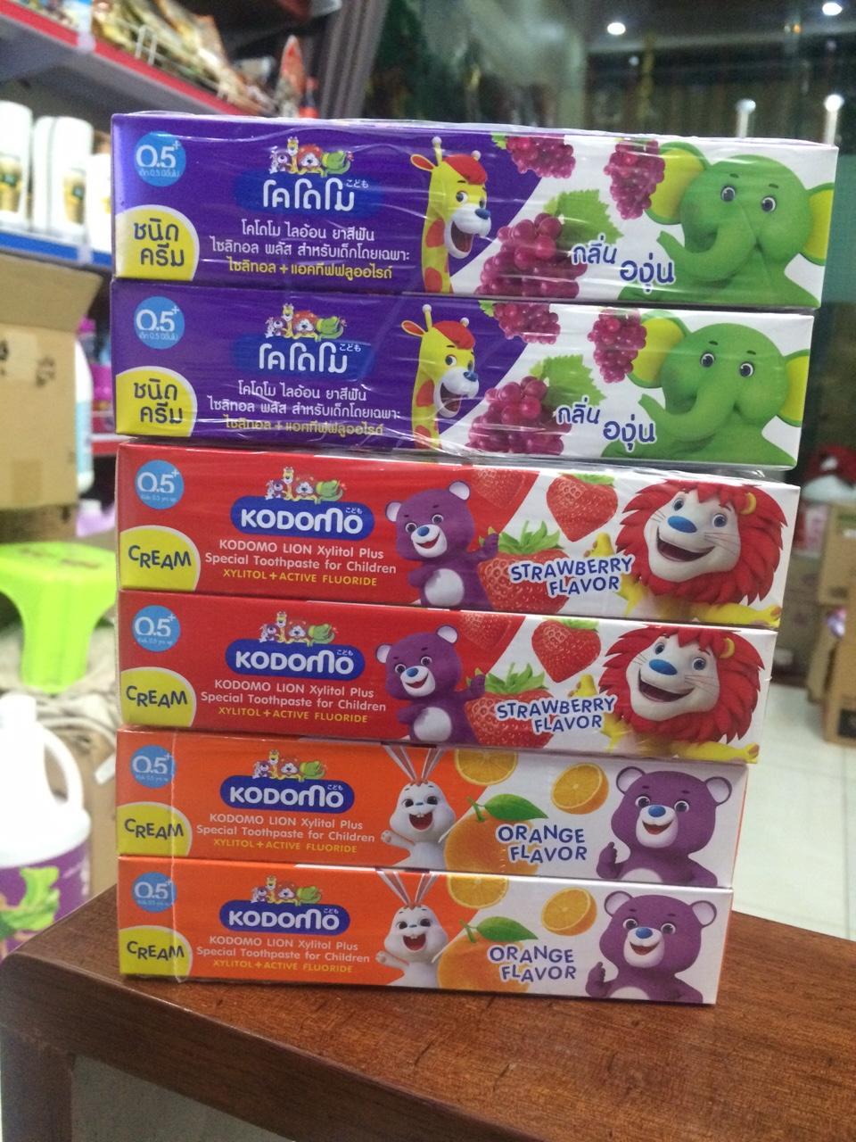 Kem Đánh răng cho bé KoDoMo 40gr Thái Lan