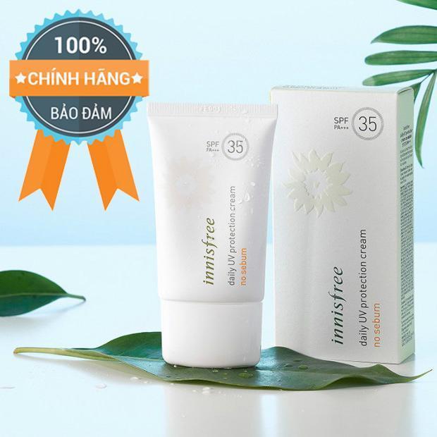 Kem Chống Nắng Innisfree No Sebum Daily Uv Protection Cream - Chính Hãng Hàn Quốc.