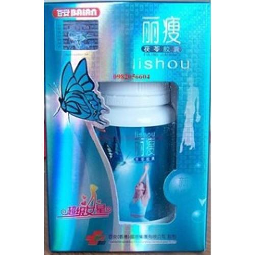 Lishou xanh hộp 40 viên giúp dáng đẹp, eo thon. CHÍNH HÃNG