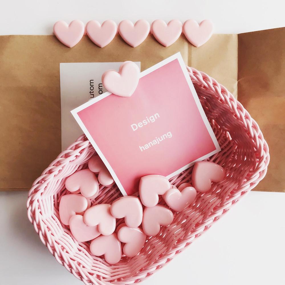 Mua 10pcs/lot Heart Shape Pink Color Mini Plastic Binder Clips Notes Letter Paper Clip Office Supplies ,Pink - intl