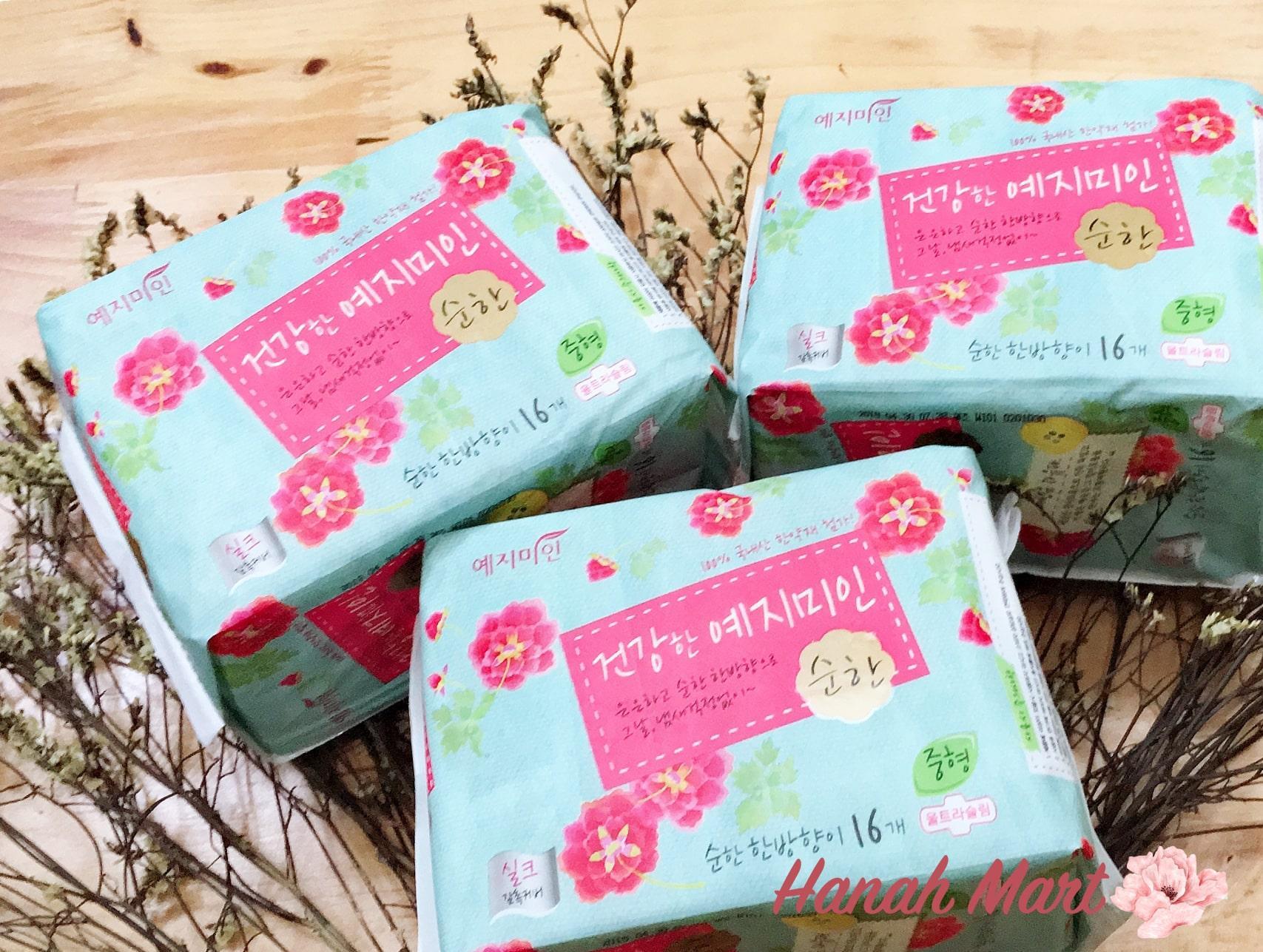 Băng vệ sinh Plus Silk Mild thảo dược Hàn Quốc Yejimiin ngăn ngừa viêm phụ khoa