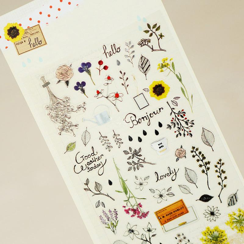 Mua Sonia Secret Garden Paper Sticker DIY Decorative Sticker For Album Scrapbook Kawaii Stationery Diary Sticker - intl