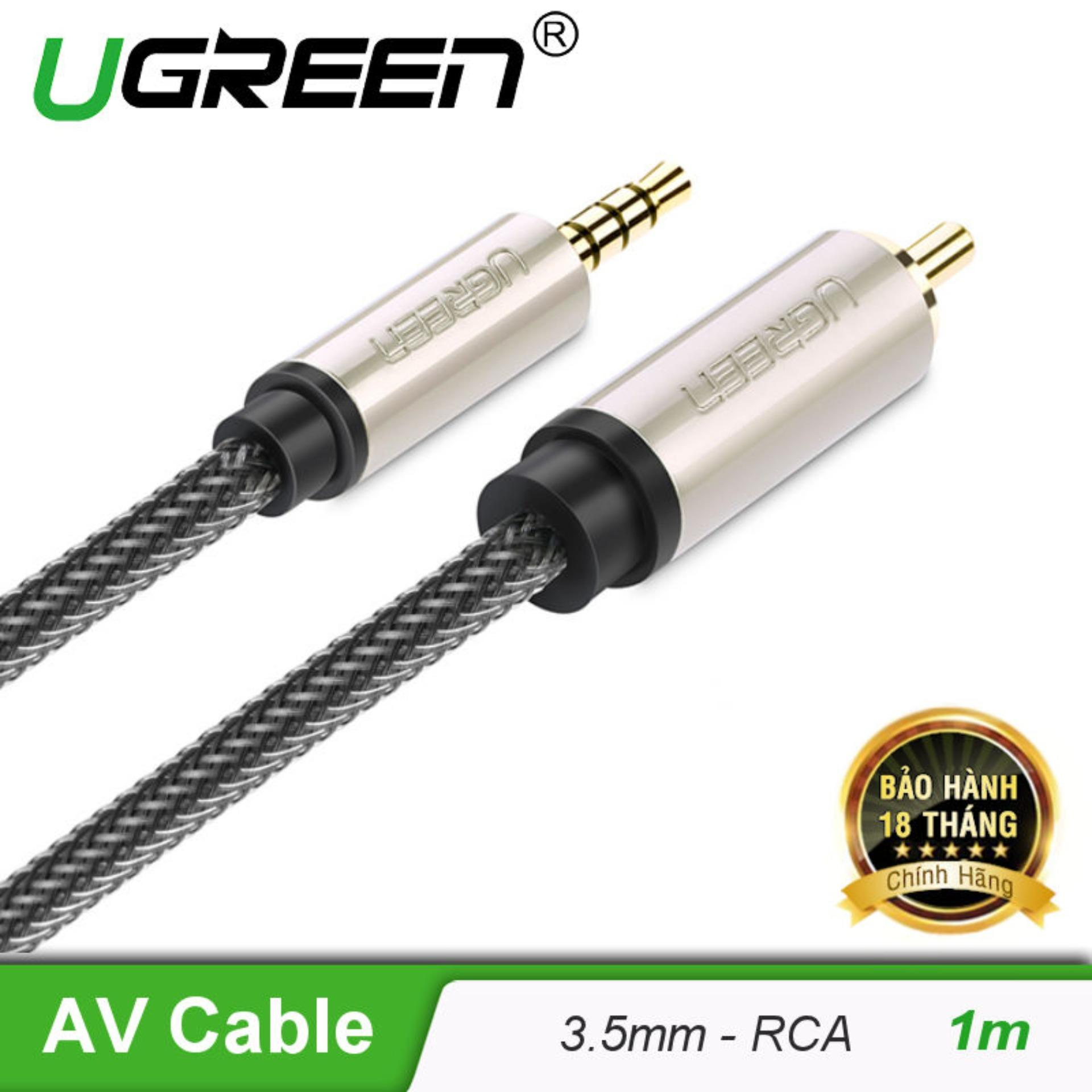 Cáp Audio 3.5mm digital sang RCA Coaxial dài 1M UGREEN AV132 20731
