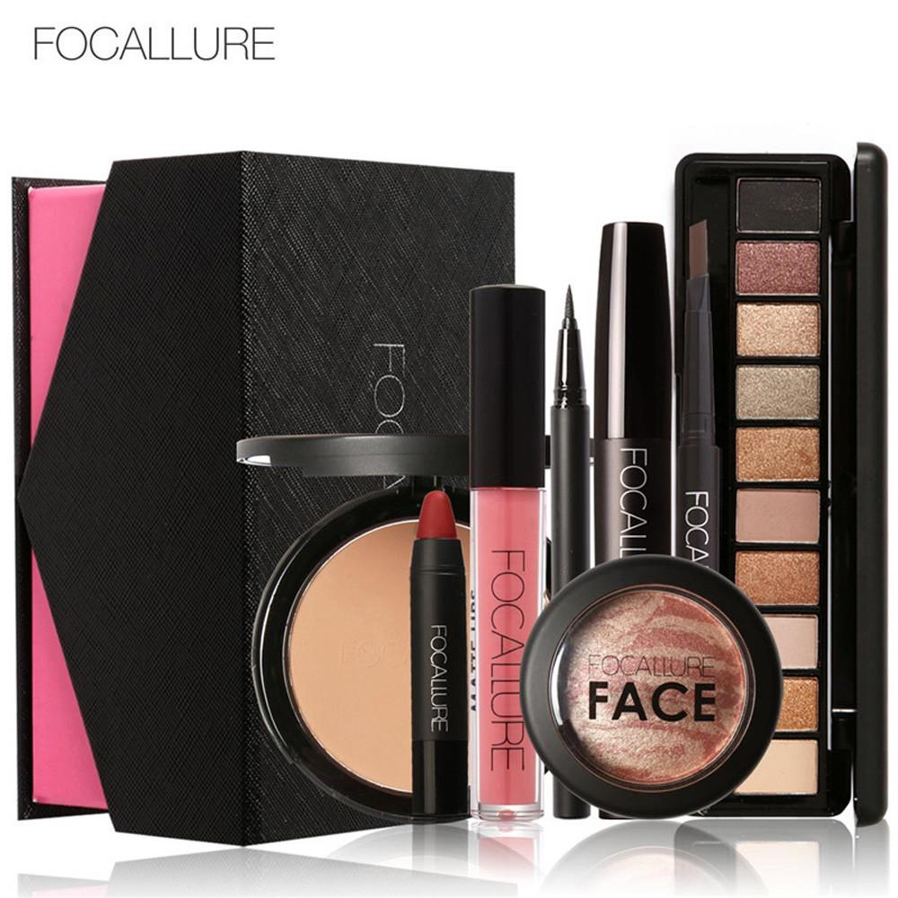FOCALLURE Makeup Set Eye Shadow Mascara Lipstick Fashion Beautiful Simple Makeup A - intl