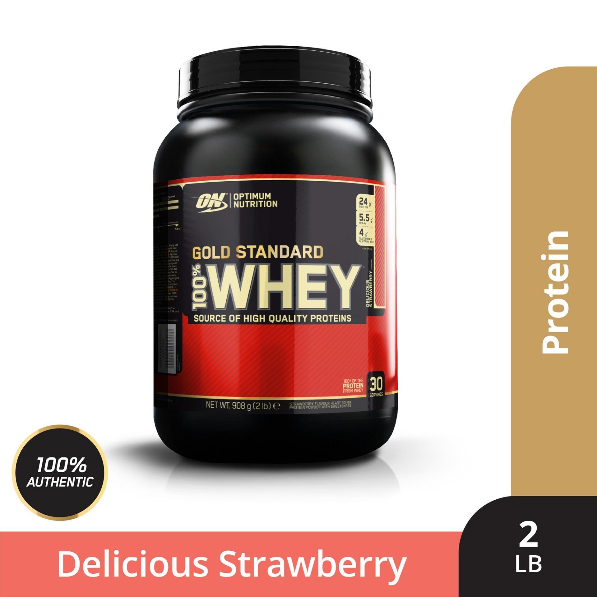 Thực phẩm bổ sung Optimum NutritionGold Standard 100% Whey Delicious Strawberry 2 lbs nhập khẩu