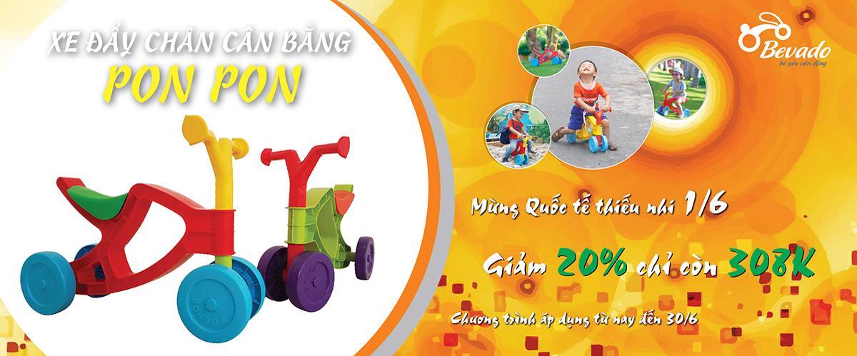 Xe đẩy chân cân bằng Pon Pon