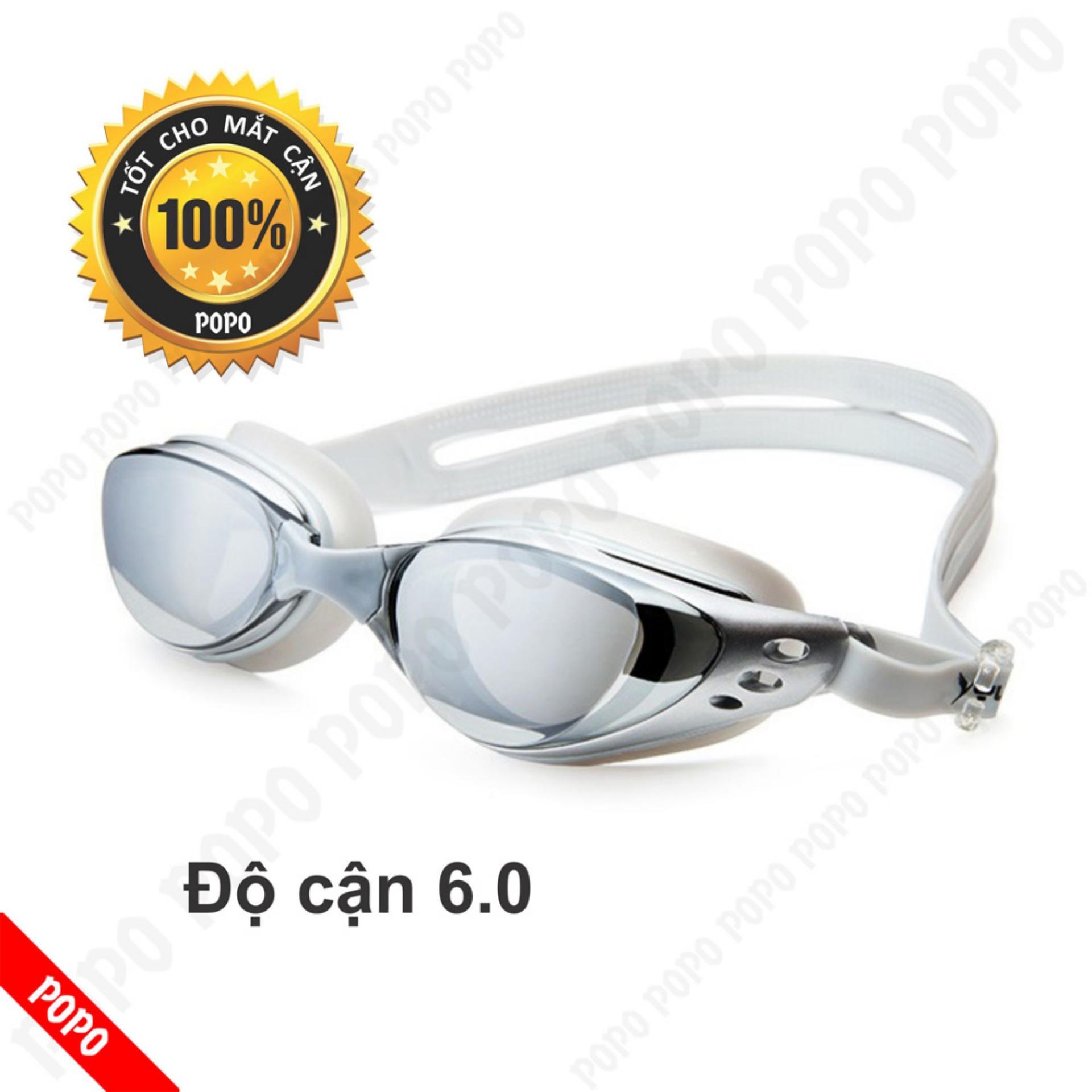 Kính bơi cận 6,0 độ thế hệ mới 610 kiểu dáng thời trang nhỏ gọn chống UV, chống sương mờ POPO Collection