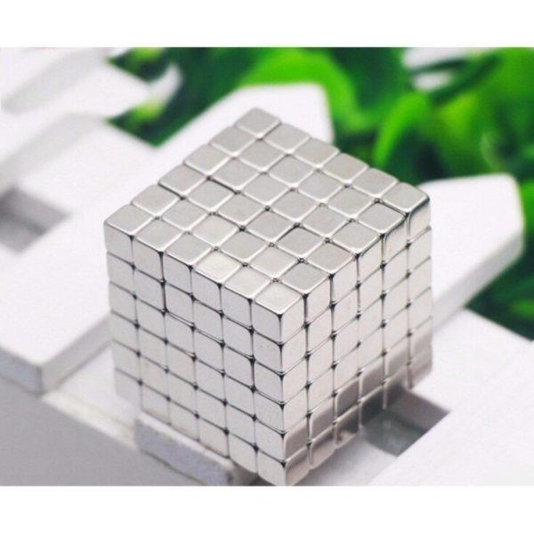 Hình ảnh Nam châm Buckyballs 3mm Hình vuông 216 viên(Bạc)