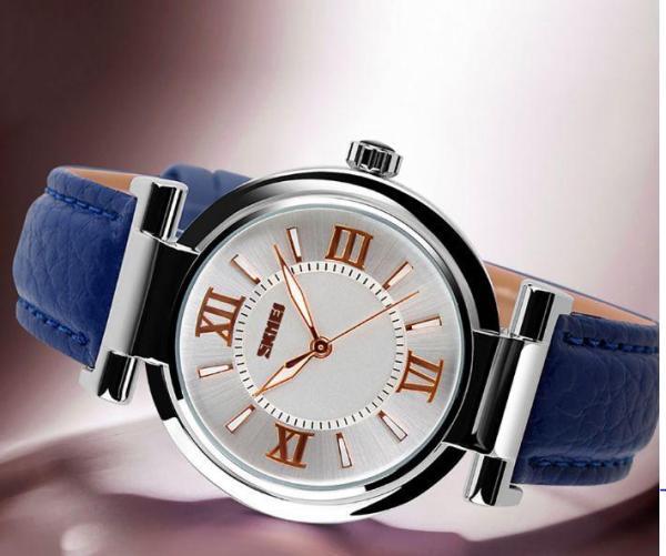 (Cập nhật 2019)Đồng hồ thời trang nữ dây da cao cấp Skmei 9075 có chống nước