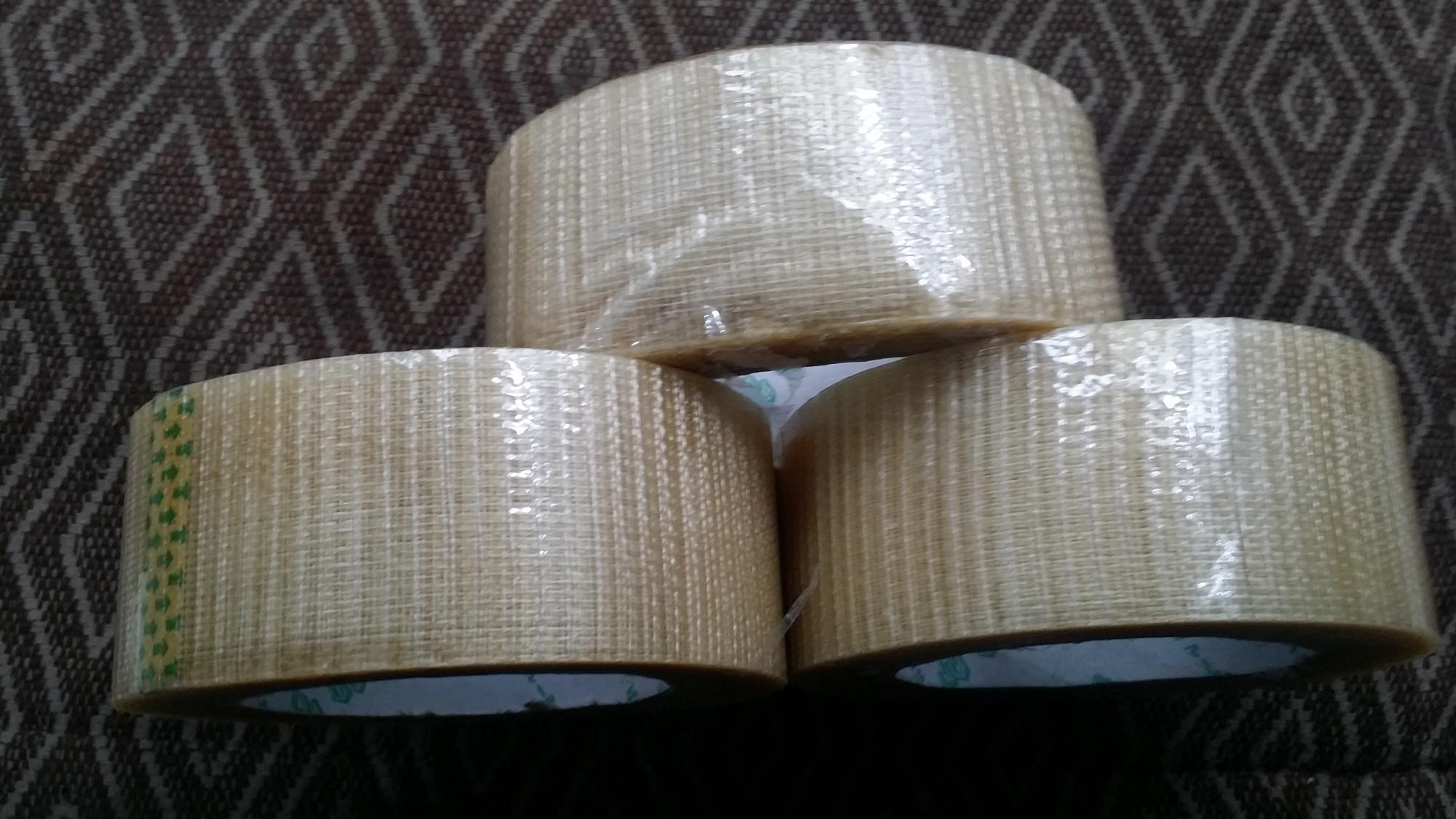 COMBO 3 CUỘN BĂNG DÍNH  BĂNG KEO SỢI THỦY TINH 48x35x0.18mm HÀN QUỐC