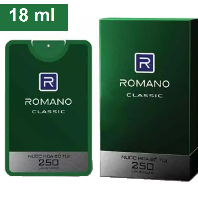 Hình ảnh Nước Hoa BỎ TÚI cao cấp Romano 18 ml _ Classic