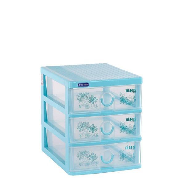 Tủ nhựa Duy Tân TOMI A4 NB 3 tầng (Dương) chuyên dụng đựng vừa khổ giấy A4