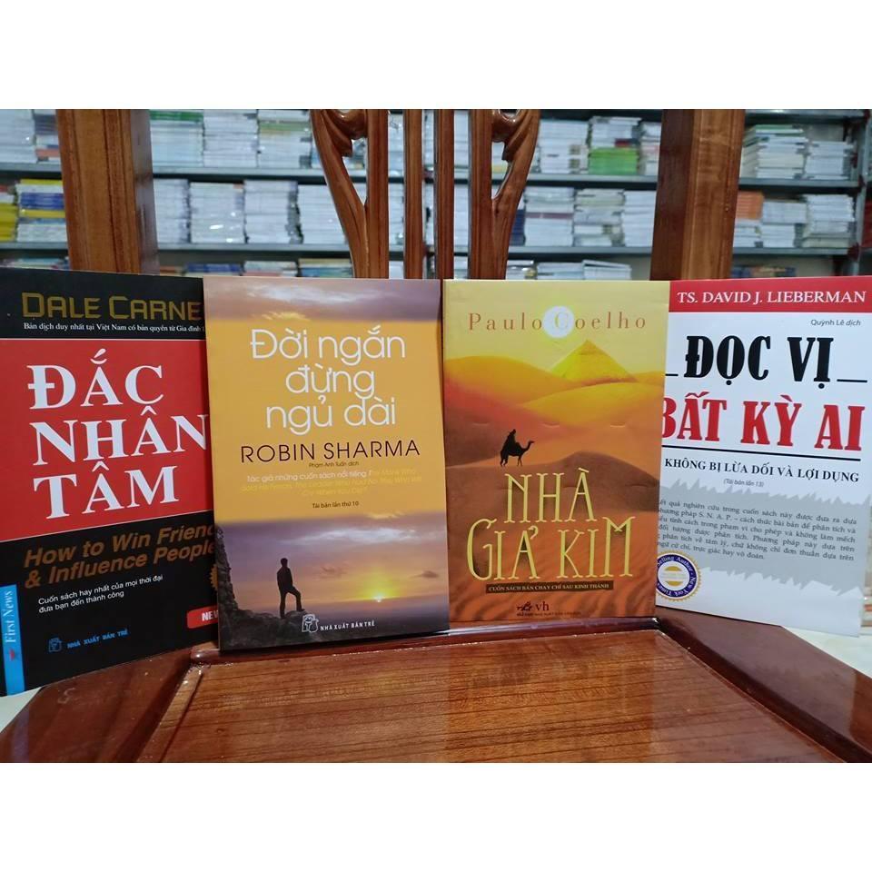 Mua Combo 4 cuốn sách hay: Đắc nhân tâm, Đời ngắn đừng ngủ dài, Đọc Vị Bất Kỳ Ai, Nhà Giả Kim