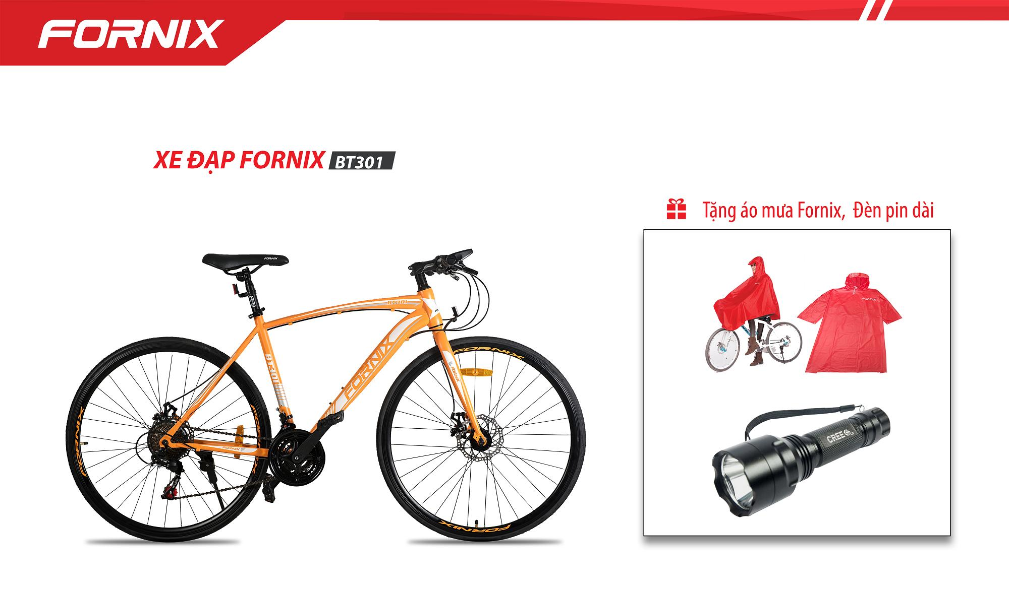 Xe Đạp Thể Thao Fornix BT301 + tặng áo mưa fornix và đèn pin