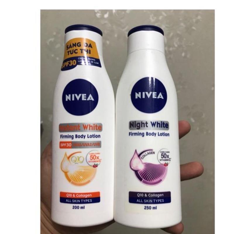 Bộ dưỡng thể Nivea ngày và đêm 250ml - hàng chính hãng nhập khẩu