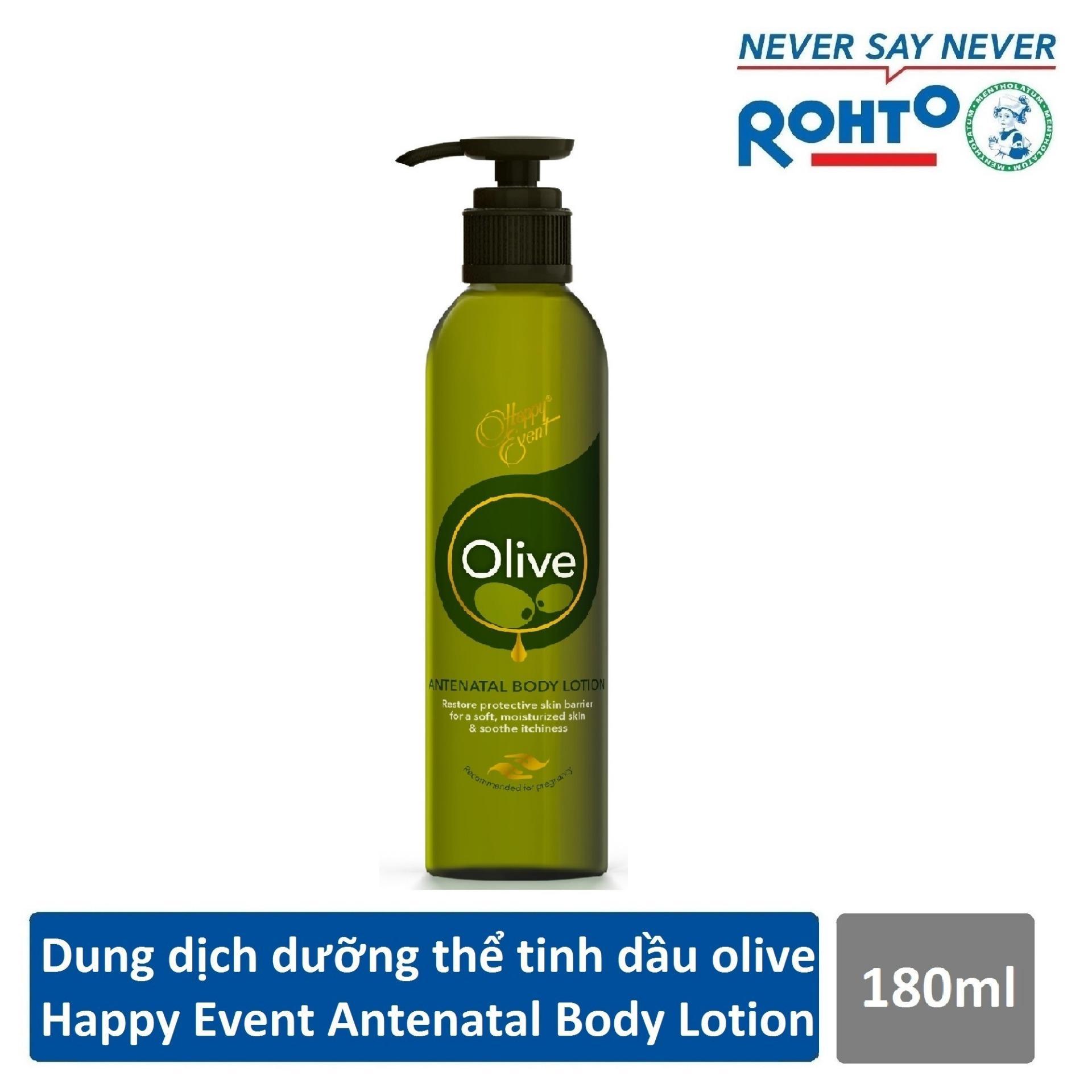 Sữa dưỡng thể tinh dầu olive dưỡng ẩm Happy Event Antenatal Body Lotion 180ml nhập khẩu