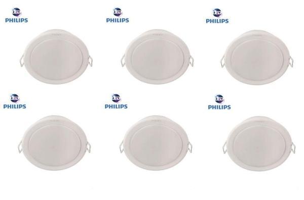 Bộ 6 đèn Philips LED Downlight âm trần 59202 7W (Trắng, Vàng)