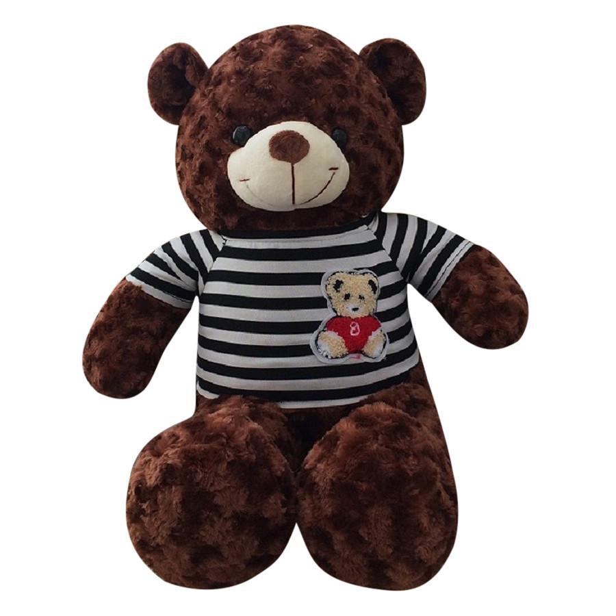 Hình ảnh Gấu Bông Teddy Màu Nâu - Khổ vải 1m cao 80cm hàng VNXK