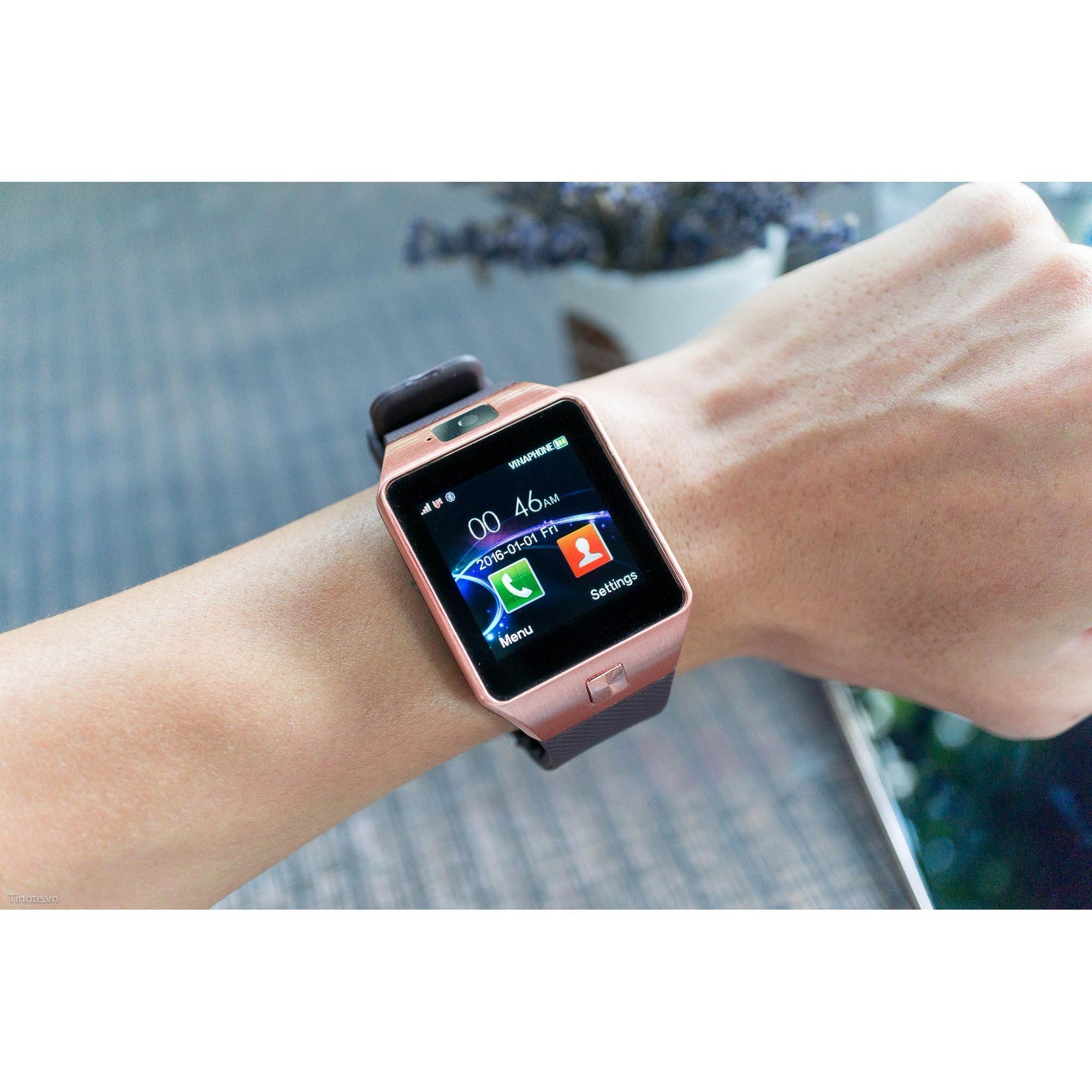 Bộ đồng hồ thông minh Smart Watch Uwatch DZ09 xài sim