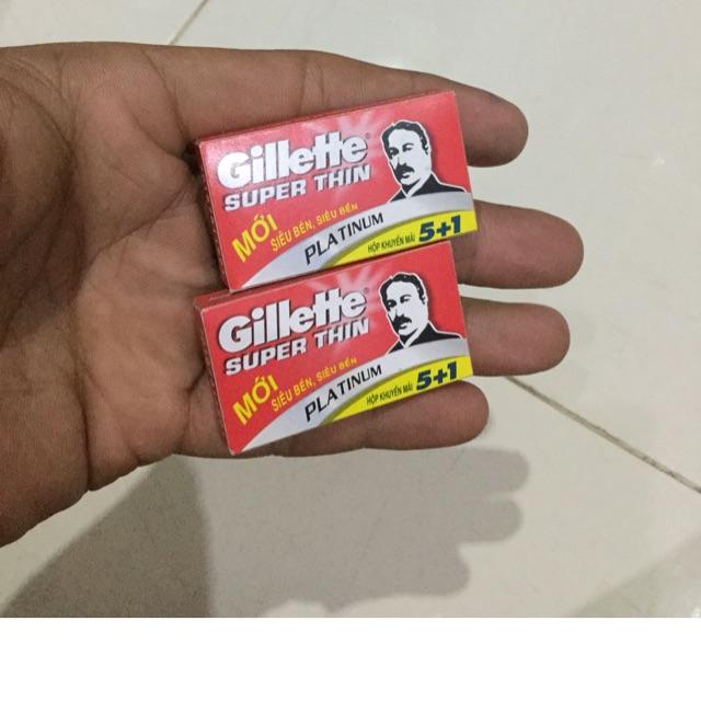 Combo 2 hộp Lưỡi lam Gillette Super Thin hộp 6 lưỡi nhập khẩu