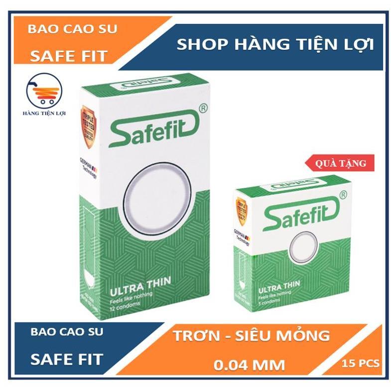 Bao cao su Siêu mỏng Safe Fit Untra thin - 12 chiếc