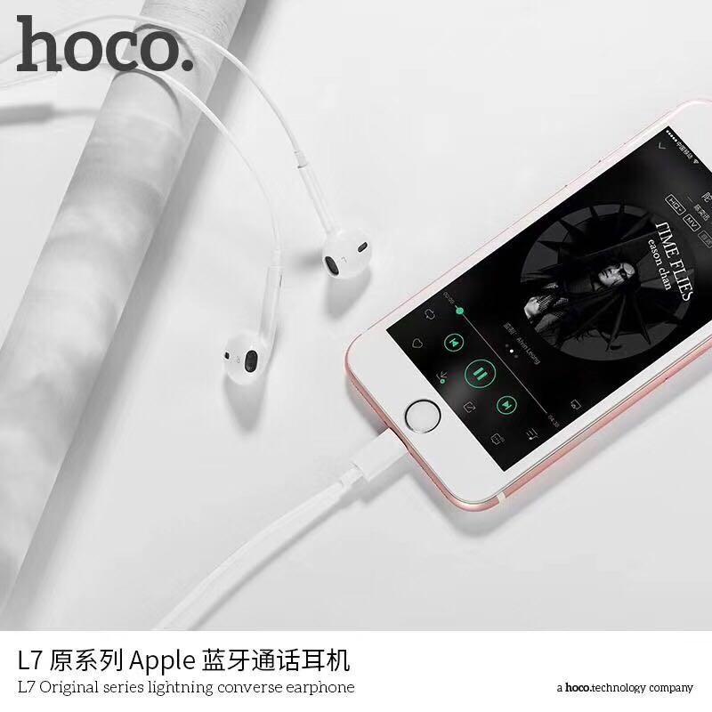 Tai nghe nhét tai Hoco L7 chuẩn Lightning cho điện thoại iPhone 7,8,X - Phân phối bởi Vietstore