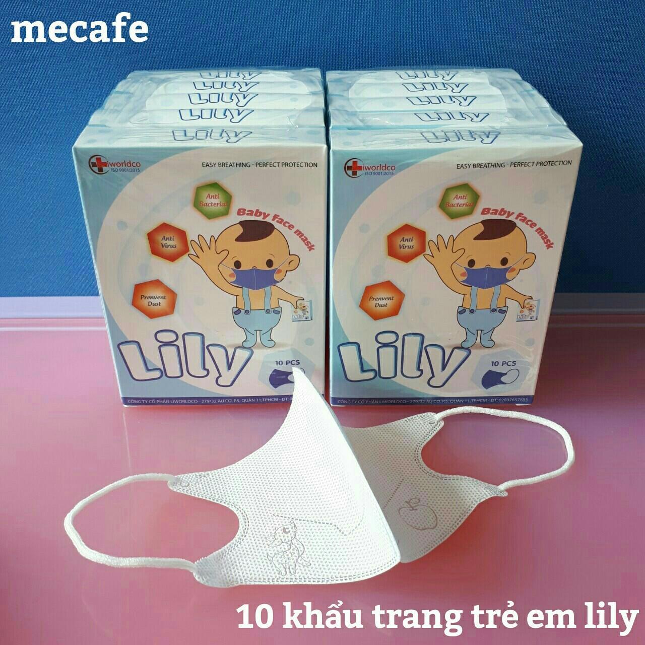 10 Khẩu trang Lily trẻ em