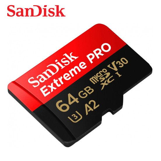Thẻ Nhớ MicroSDXC SanDisk Extreme Pro V30 U3 4K A2 64GB R170MB/s W90MB/s (Đen đỏ) Giá Rẻ Nhất Thị Trường
