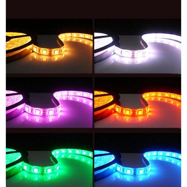 Bộ COMBO Đèn led dây hắt trần thạch cao 5050RGB - đổi 7 màu cho chu vi 15m + Nguồn + Bộ khiển