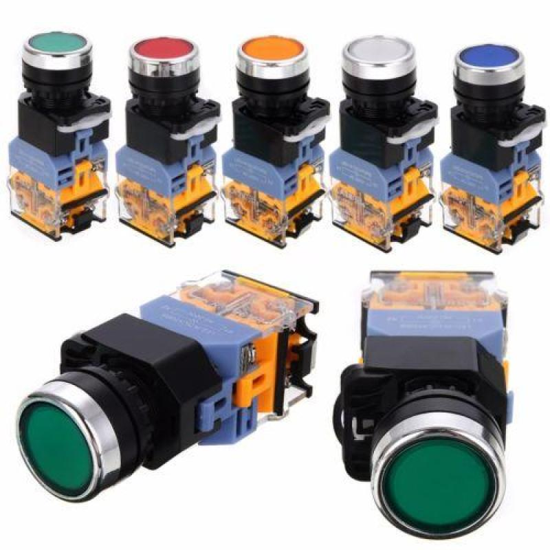 Bảng giá 5 Color Push Button Switch Momentary DPST Power ON OFF 22mm 1 NO 1 NC AC 220V