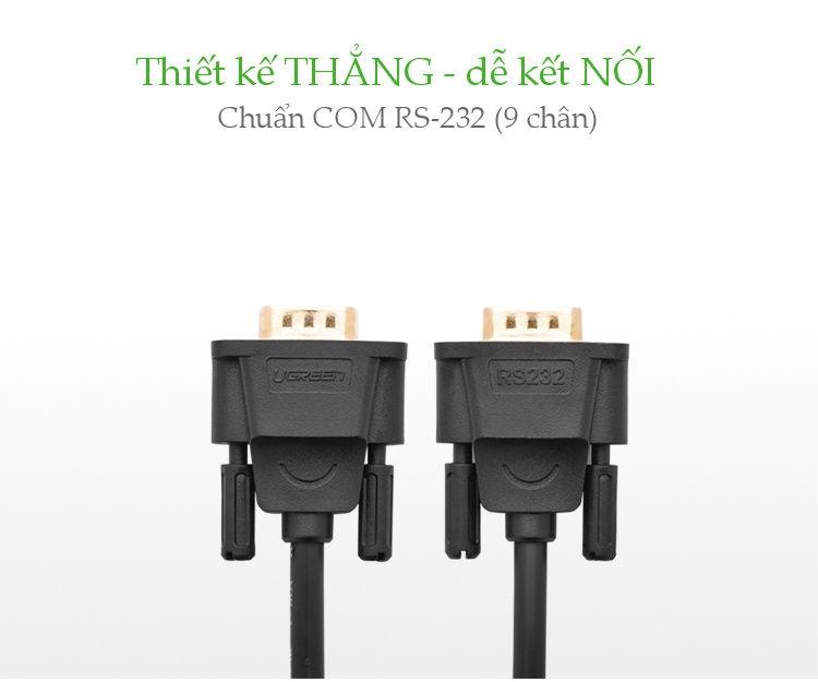 Dây cáp COM RS-232 đực sang đực dài 2-5M UGREEN DB101