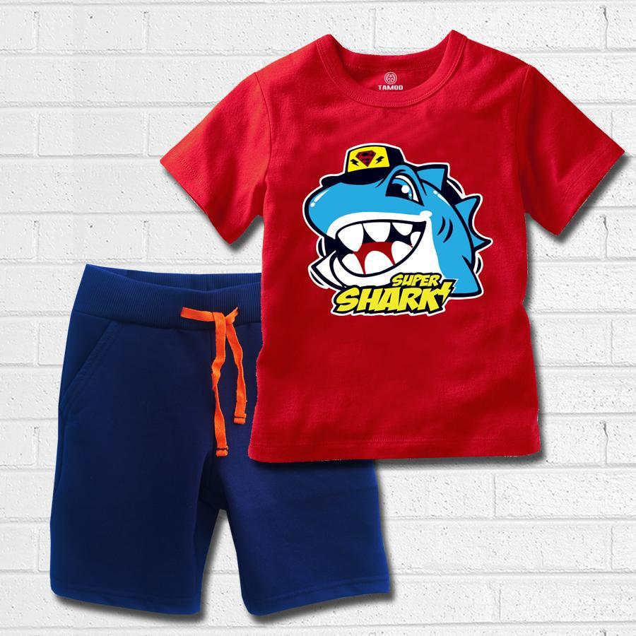 Offer Ưu Đãi Quần áo Bé Trai TAMOD In Hình Cá Mập Supper Shark.