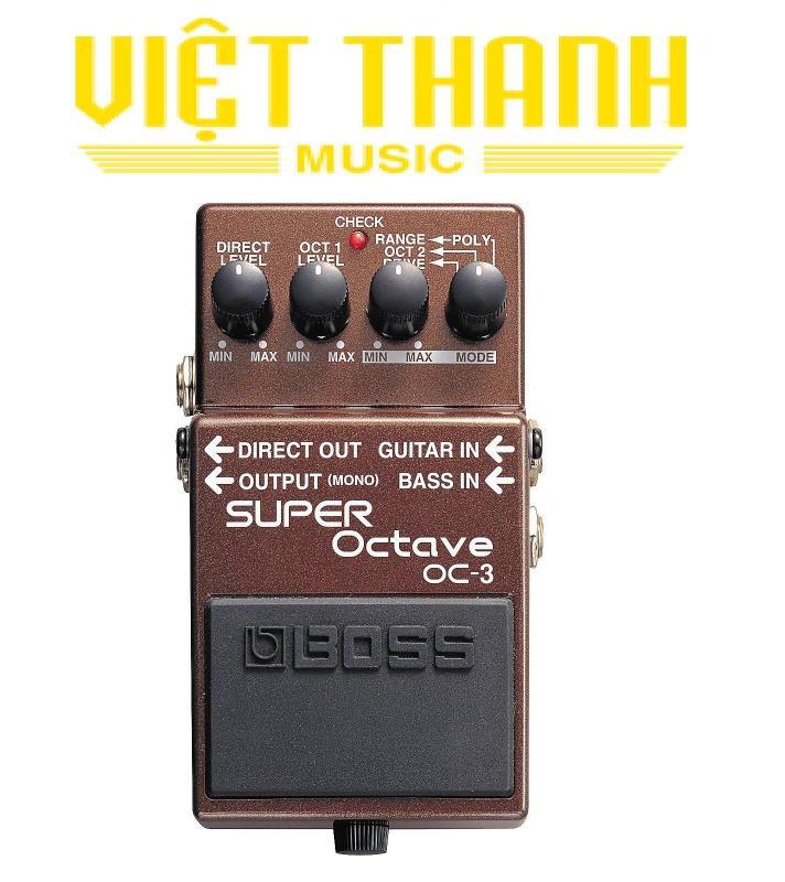 Fuzz Cục Boss OC3 Hiệu Ứng Octave Dành Cho Guitar Điện , Guitar Cổ ,Hoạt Động Bằng Pin 9V hoặc bộ nguồn AC Adaptor