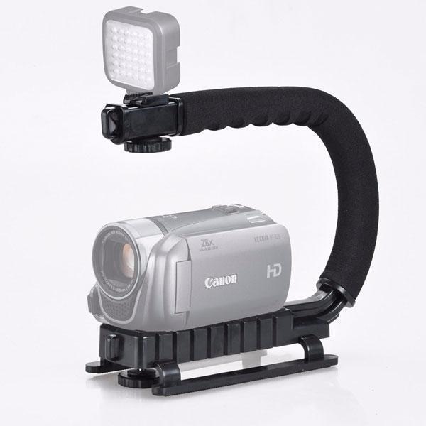 Hình ảnh Khung đỡ tay cầm chống rung quay phim điện thoại, máy ảnh, máy quay chuyên nghiệp chữ C
