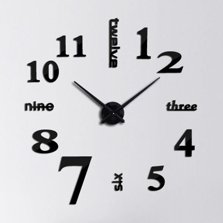 Nơi bán Đồng hồ treo tường trang trí 3D - Three-six-nine-twele