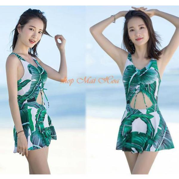 Bikini 1 Mảnh Ôm Thân Hình Lá AT025 Mai Hoa