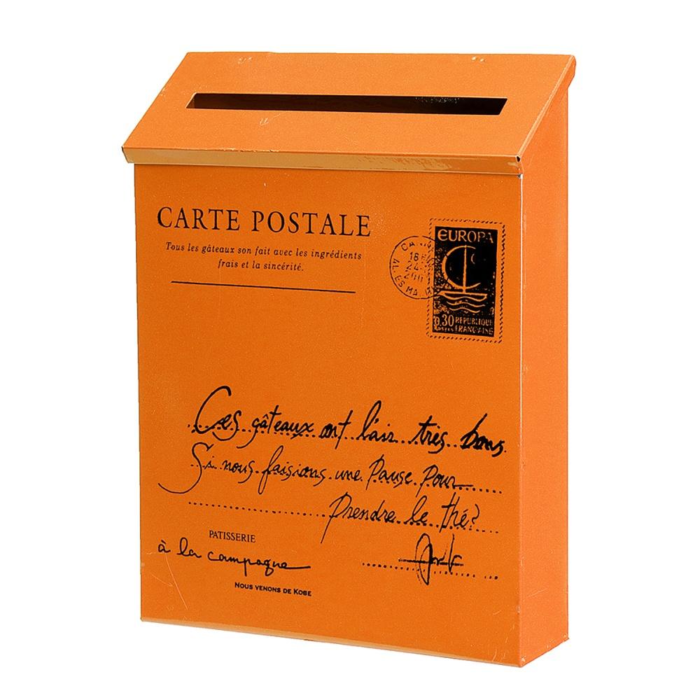 29x21x6cm Outdoors American Mailbox Wall Mounted Post Box Home Garden Decoration Orange - intl - 5