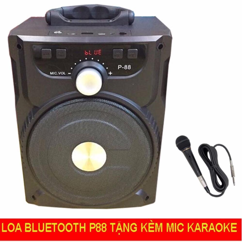 (Tặng Micro Hát Karaoke) Loa Bluetooth di động 20W - Loa kéo P88, NT8, NT9 Âm Thanh Cực Hay - Loa Mini - Loa Vi Tinh - Loa May Tinh