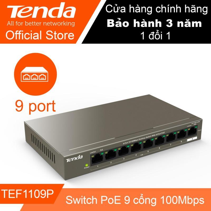 Bảng giá Thiết bị Switch Poe 9 cổng tốc độ 100M TENDA TEF1109P - Hãng Phân phối chính thức Phong Vũ