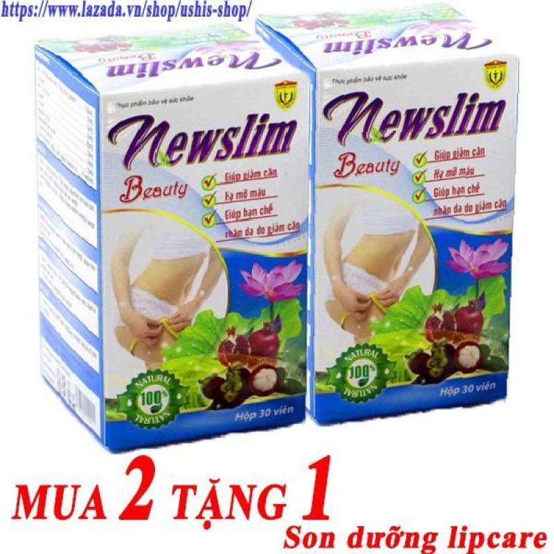 Bộ 2 hộp Viên uống Newslim Beauty giảm cân đẹp da 30 viên cao cấp