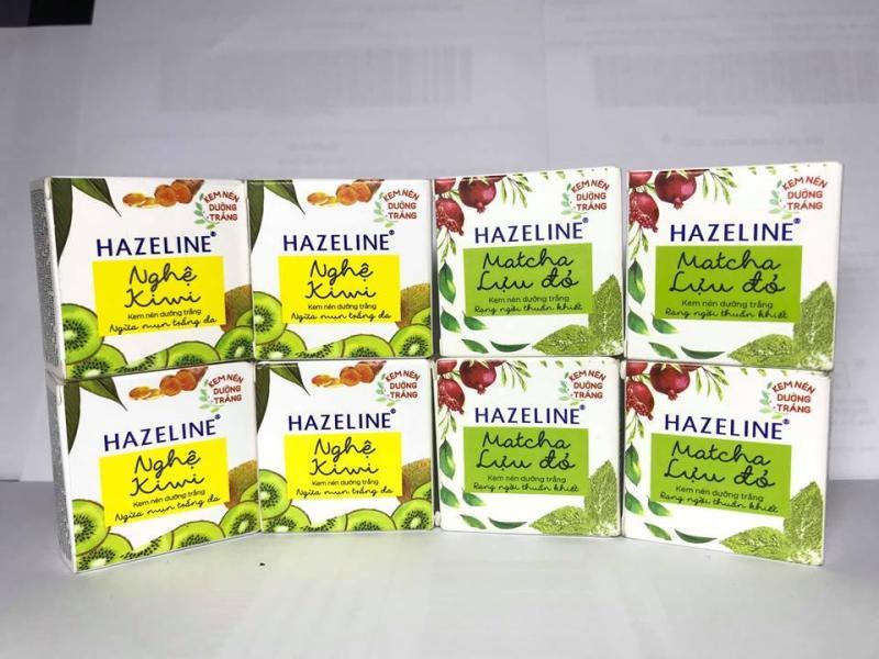 Combo 5 kem nén hazeline matcha lựu đỏ và 5 kem nén hazeline nghệ kiwi nhập khẩu