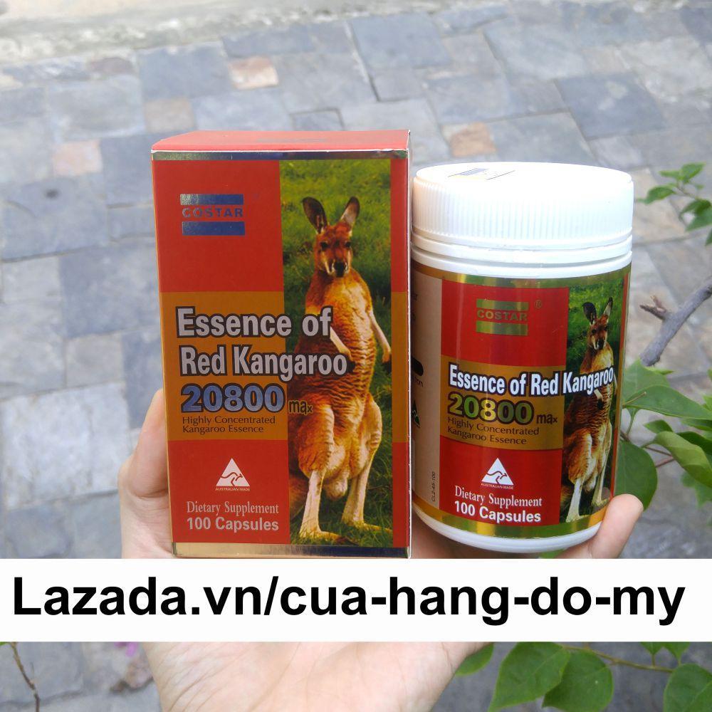 Viên Uống  Essence of Red Kangaroo 20800 max 100 viên - giúp Tăng Cường Sức Khỏe